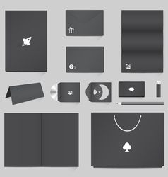 Corporate identity mockup templates vector