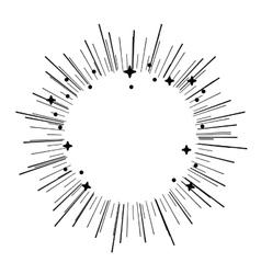Crash stars isolated icon design vector