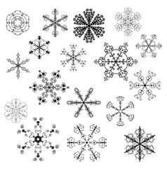 Evil snowflakes vector