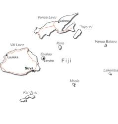 Fiji black white map royalty free vector image gumiabroncs Images