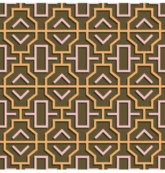 Geometric abstract oriental seamless pattern vector image vector image