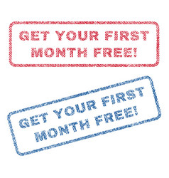 get your first month free exclamation textile vector image