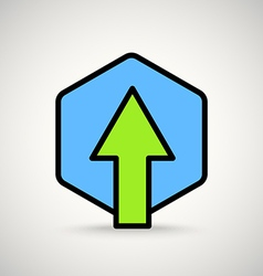Green arrow sign appication or web interface icon vector