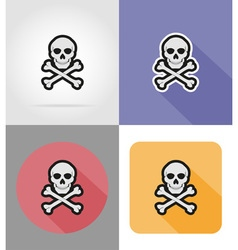 Halloween flat icons 16 vector