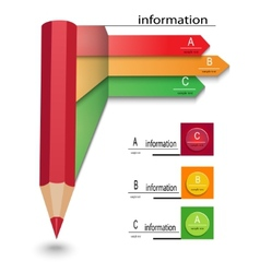 infographics template with arrows and pencil vector image