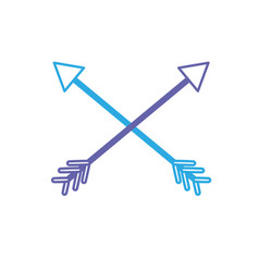 line arrows in cross with pointer design vector image vector image