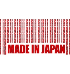 Made in japan text and bar code from same words vector