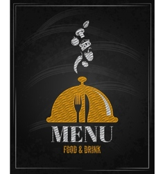 menu board chalk design background vector image vector image