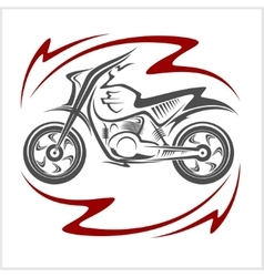 Motorcycle elements vector