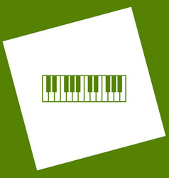 Piano keyboard sign white icon obtained vector