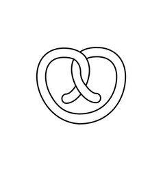 pretzel line icon sign on vector image vector image
