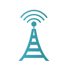 Radio tower broadcast transmission icon vector