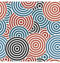 Seamless with concentric circles vector image vector image