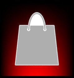 shopping bag postage stamp or old vector image