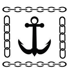 silhouette of anchor vector image vector image
