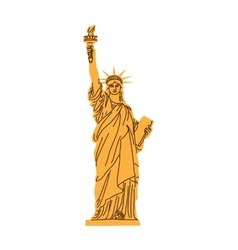 Statue of Liberty isolated on white vector image