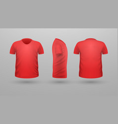 T-shirt teplate set front side back view vector