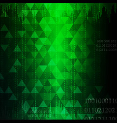 Technology abstract in green light effect design i vector