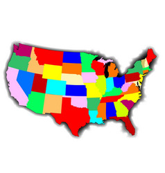 usa patchwork map vector image