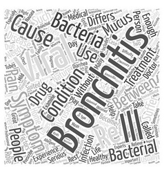Viral bronchitis word cloud concept vector