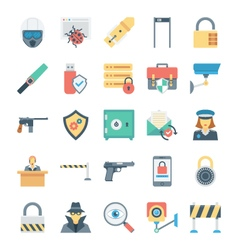 Crime and security icons 4 vector