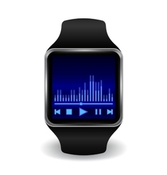 Smart watch with interface in several color vector