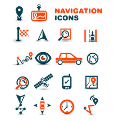 navigation premium icon set vector image
