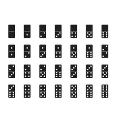 Isolated black domino set vector