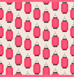 seamless pattern with flat lantern vector image