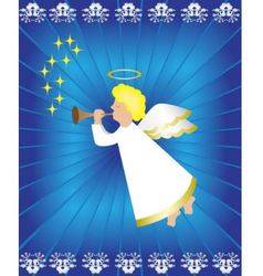 Angel with flute vector