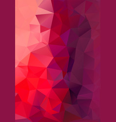 Polygon background red and purple height vector