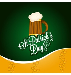 Patrick day beer mug vintage background vector