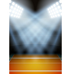 Background for posters night volleyball stadium in vector