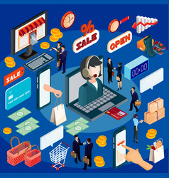 3d isometric concept of e vector image vector image