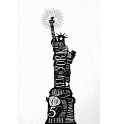 New York city vintage vector image
