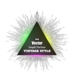 Abstract triangle banner vintage style star burst vector
