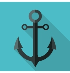 Anchor icon graphic vector