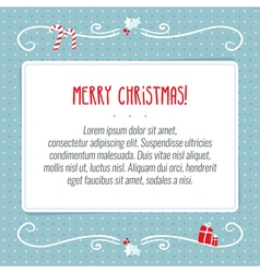 Merry christmas greeting card background design vector