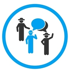 Human figures discussion circled icon vector