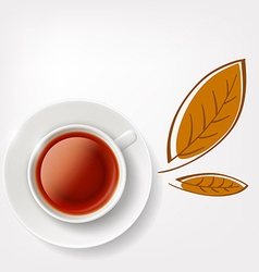 Cup of tea stock vector