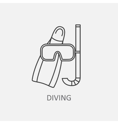 Diving logo vector image