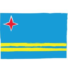 abstract aruba flag or banner vector image