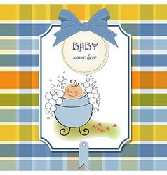 Baby boy shower card vector