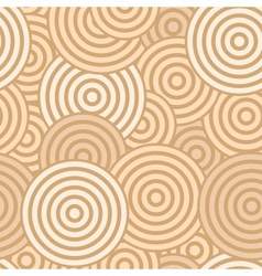 Beige seamless with concentric circles vector image vector image