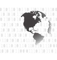 Binary background globe vector image