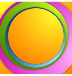 Bright colorful circles background vector image