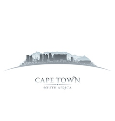 Cape town south africa city skyline silhouette vector