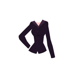Cartoon blazer with lapel collar and buttons vector