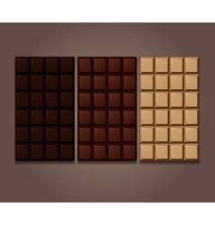Chocolate bars icon vector image vector image