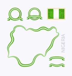 Colors of Nigeria vector image vector image